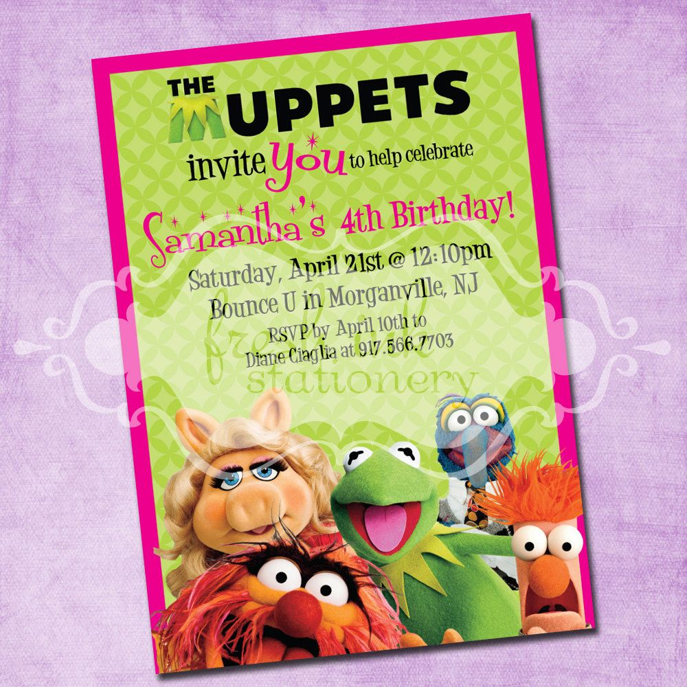 Muppets party food Beaker and Bunsens Magic Potion Sprite – Muppet Birthday Card