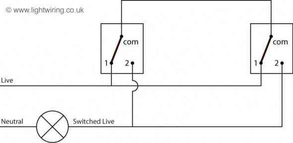 two way switching schematic wiring diagram 3 wire control rh pinterest co uk Simple Schematic Diagram Schematic Circuit Diagram