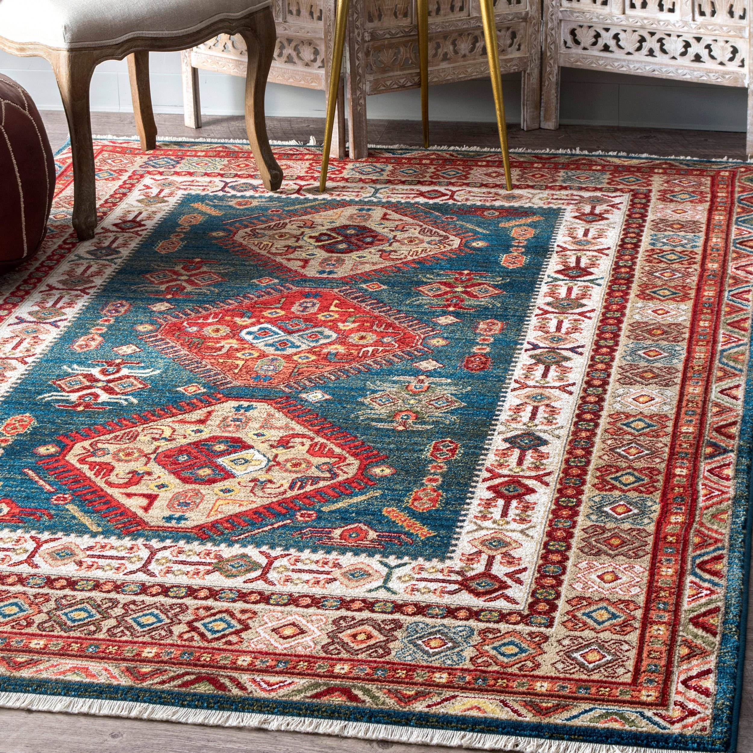 Nuloom Traditional Tribal Diamond Emblems Area Rug Rugs Rug