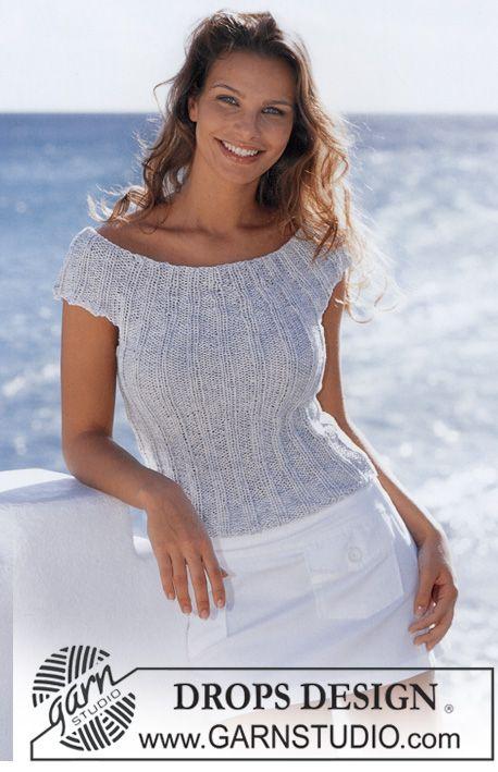 Top DROPS en Safran y Cotton-Viscose ~ DROPS Design | ideas crochet ...