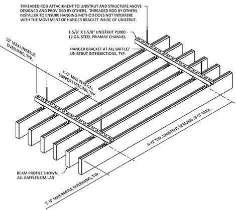 High Profile Series Straight Baffle Ceiling Baffle Ceiling Ceiling System Timber Ceiling