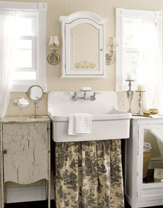 Decorating A Simply Shabby Chic Bathroom French Country Style