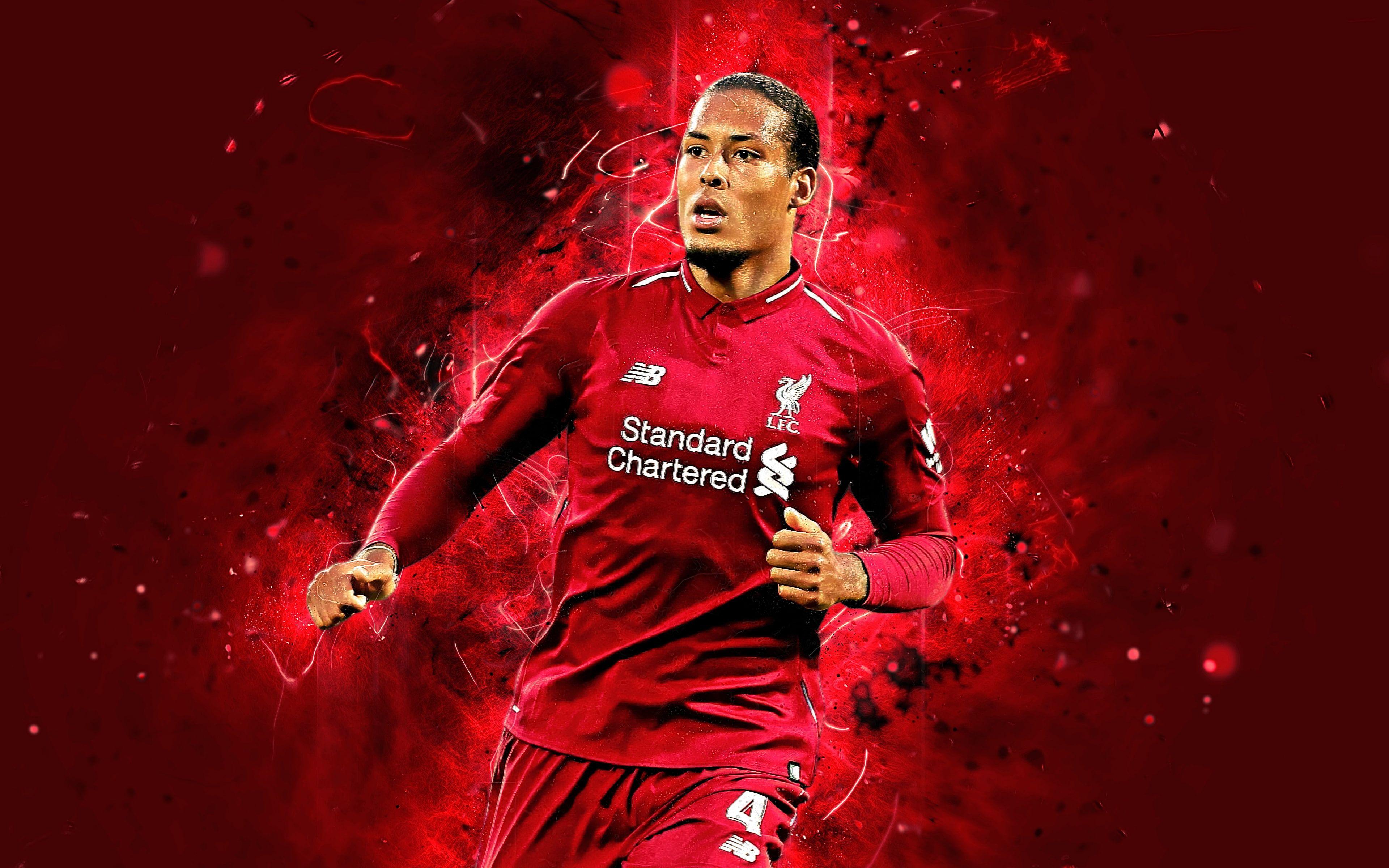 Soccer Virgil Van Dijk Dutch Liverpool F C 4k Wallpaper