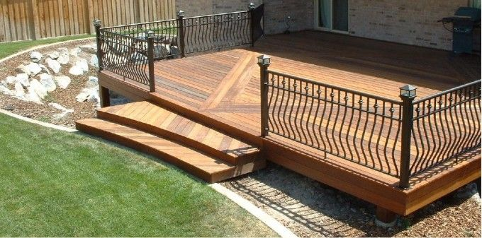10 inspiring wooden decks | composite deck boards, iron railings ... - Wood Patio Ideas