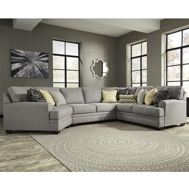 Ashley Cresson Gray Sectional With Cud