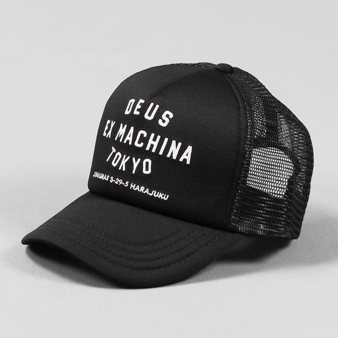 8430c3da Deus Ex Machina Tokyo Address Trucker Cap Black White | Hats in 2019 ...