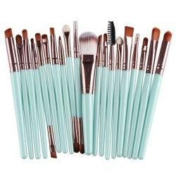 Gamiss - Gamiss 20 Pcs Multifunction Long Plastic Handle Nylon Makeup Brushes Set - AdoreWe.com