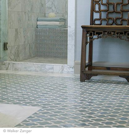 White Arabesque Tile Floor Google Search
