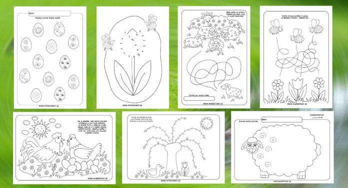 Jarné pracové listy pre predškolákov - 17 listov - Aktivity pre deti, pracovné listy, online testy a iné