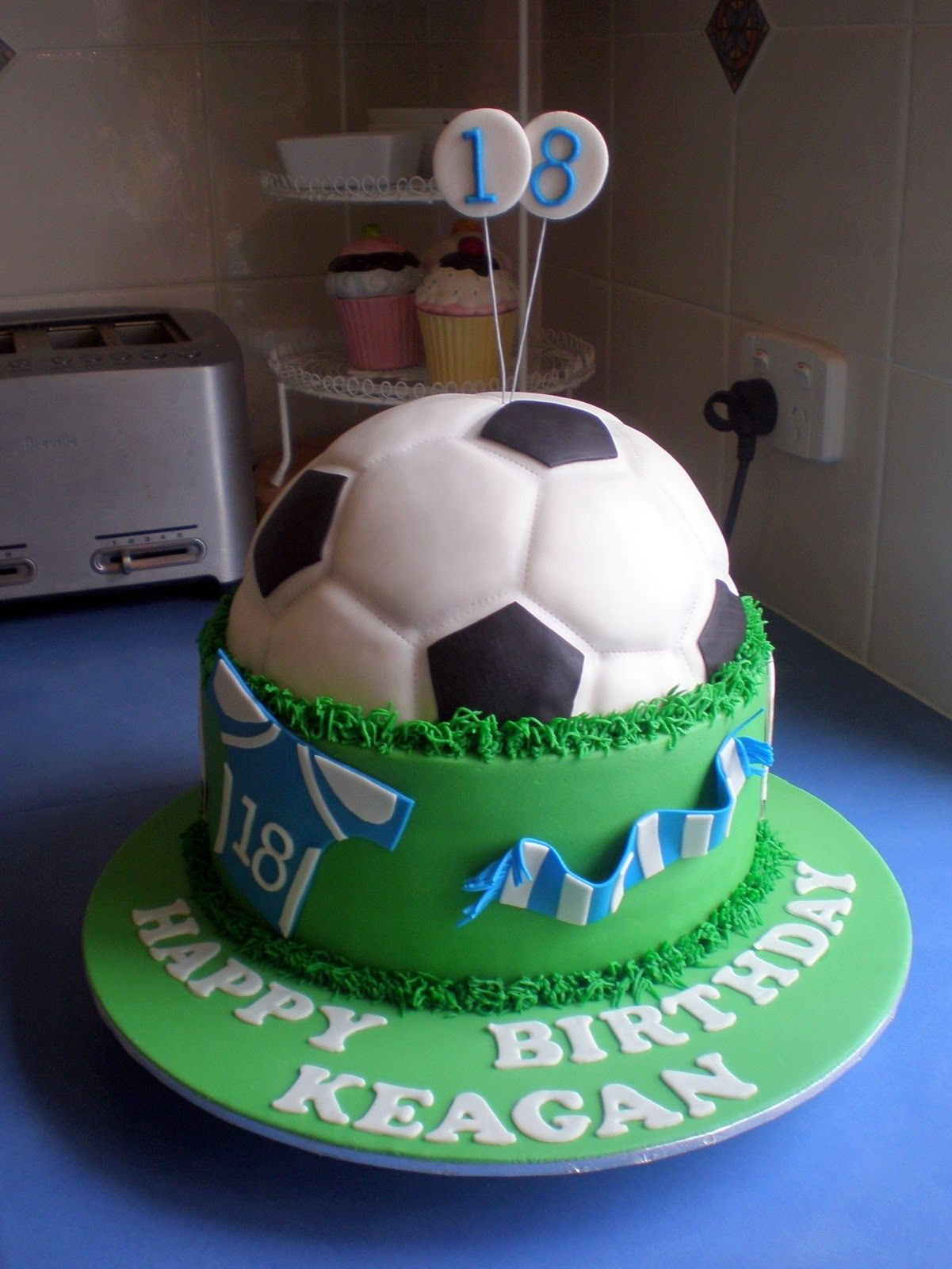 football cake SoccerFootball Birthday Cake boys birthday