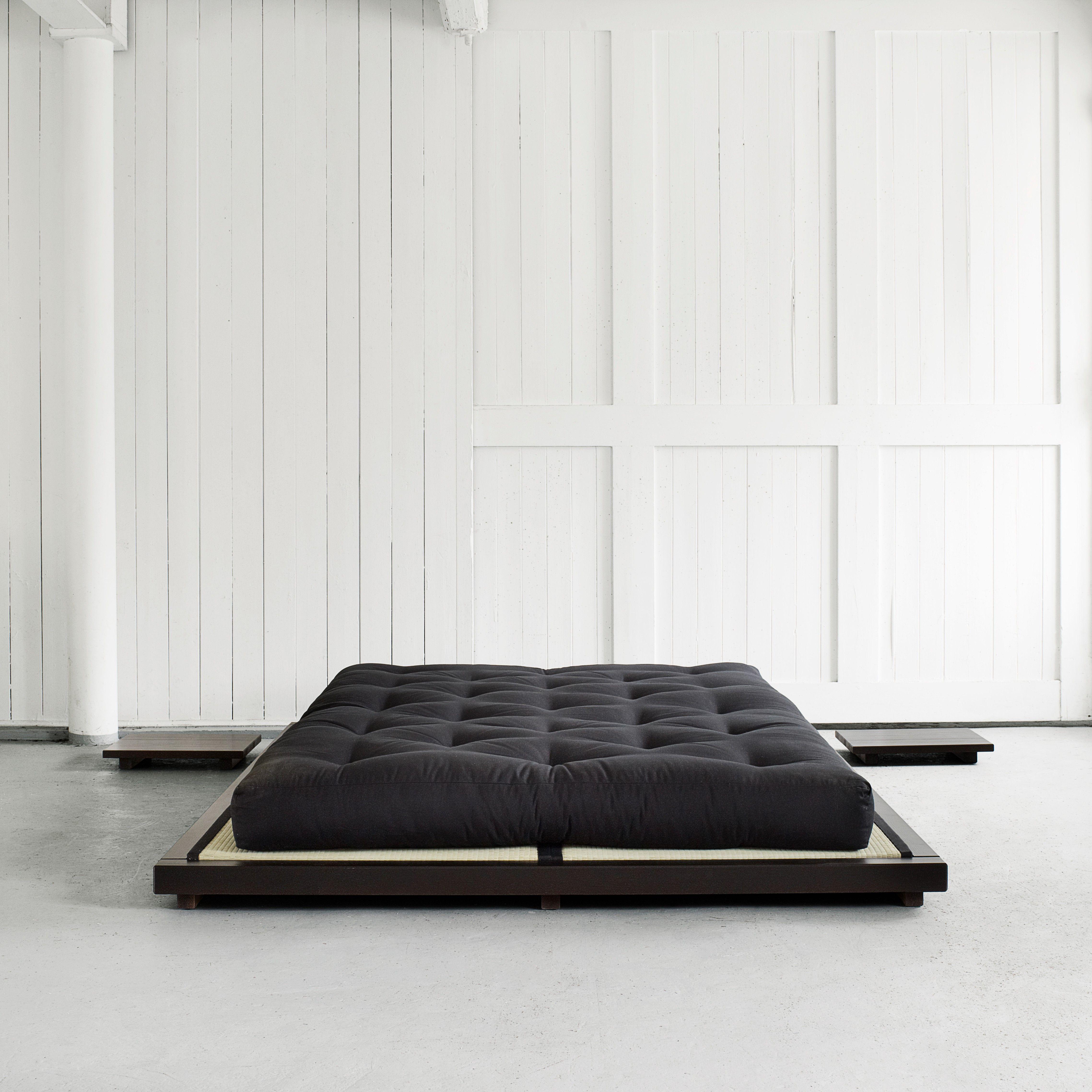 Letto dock karup matrimoniale 2 piazze maxi zona notte letti in legno materasso futon - Letto matrimoniale giapponese ...