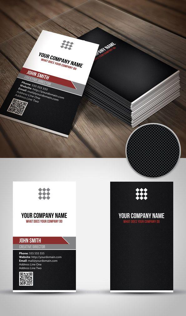 Unique Vertical Qr Code Business Card Template Qr Code Business