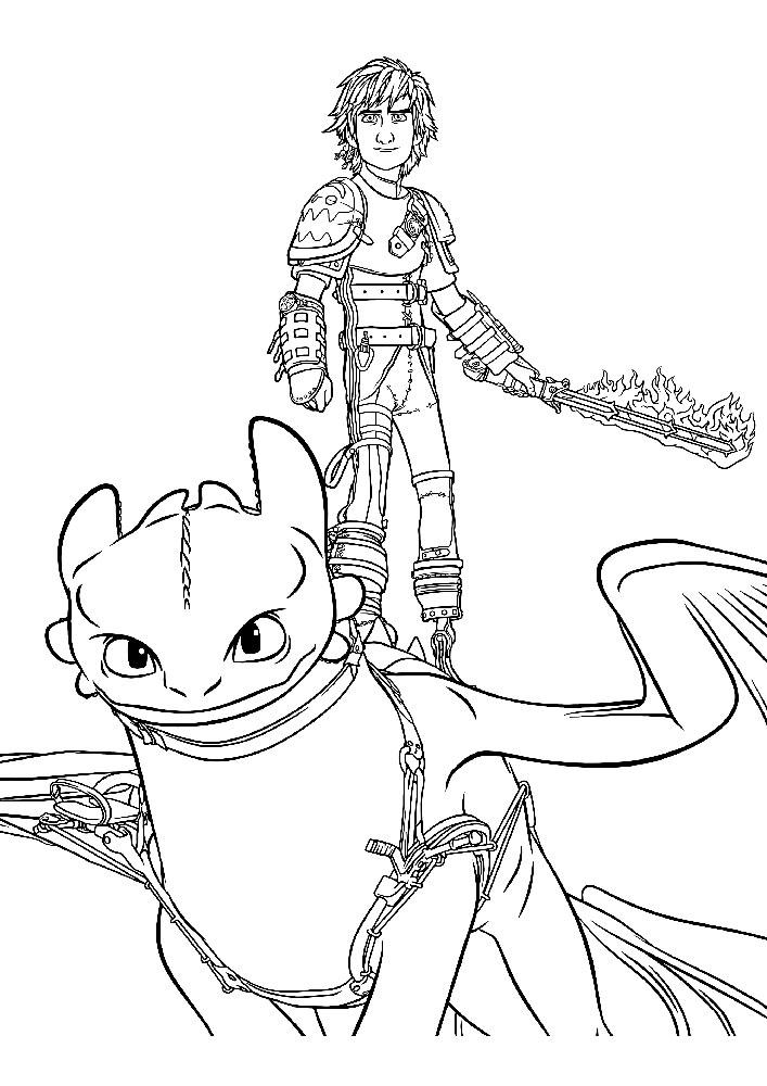 Картинки карандашом из мультика как приручить дракона