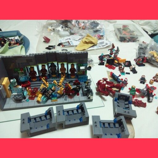 Iron Man Lego custom laboratory #lego #ironman