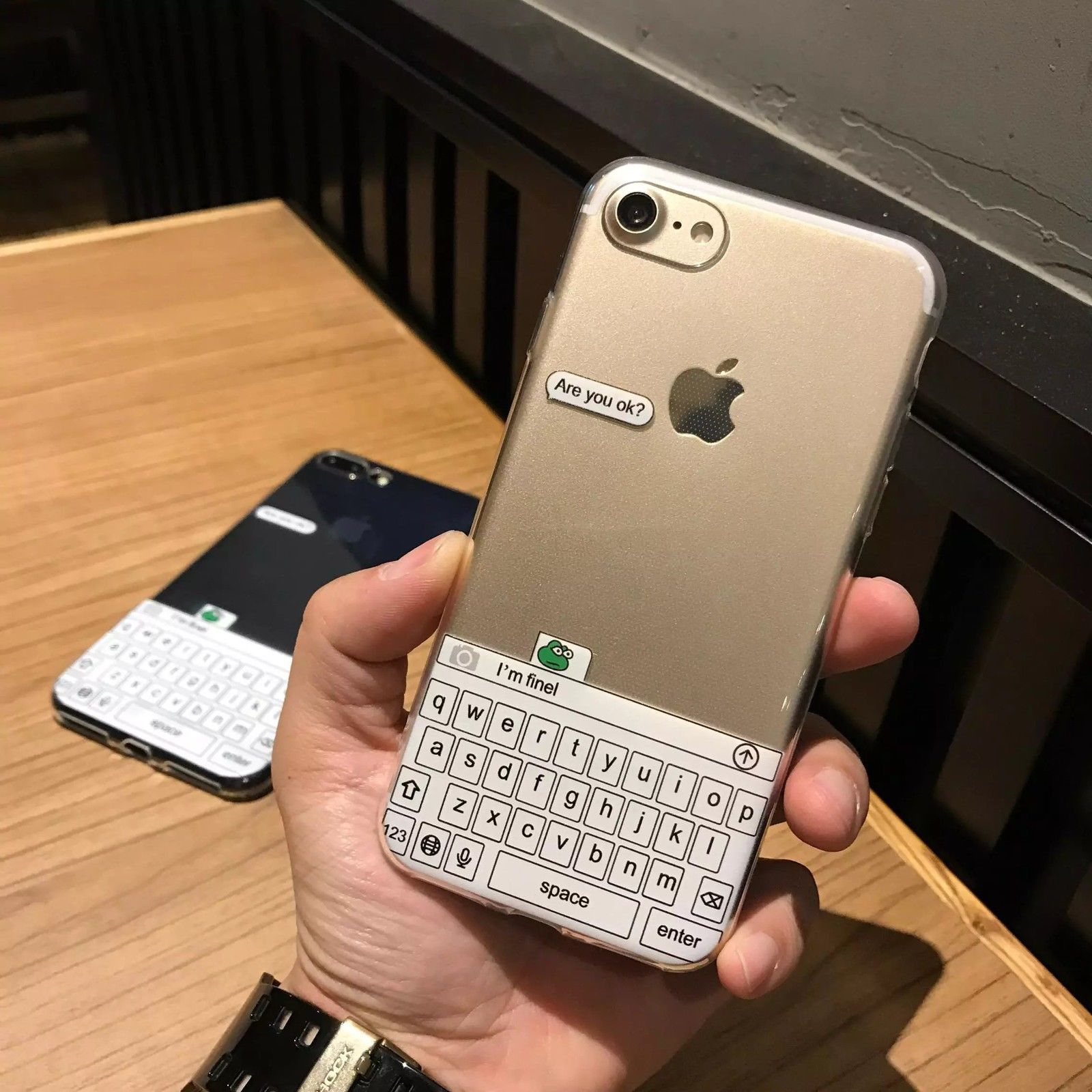 Cute Green Frog Keyboard Clear Shockproof Soft Case For Iphone X 8 7 2in1 Shark Hybrid Armor Hard Huawei P9 6s Plus