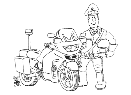 mütze boo malvorlagen ausmalbild polizei motorrad 83