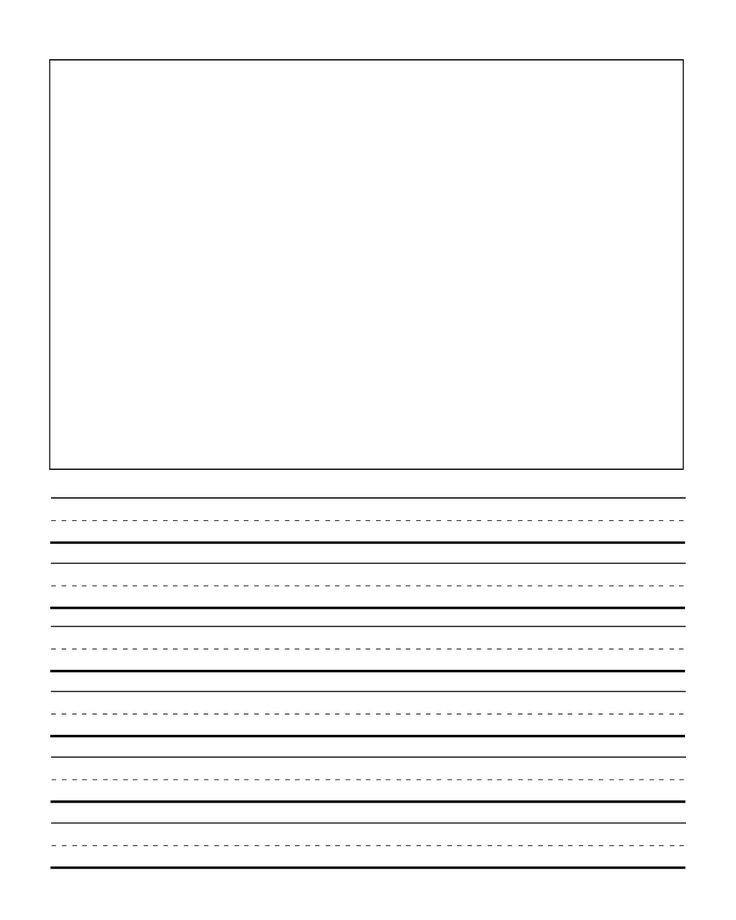 first grade writng paper template with picture Journal Writing - free lined handwriting paper