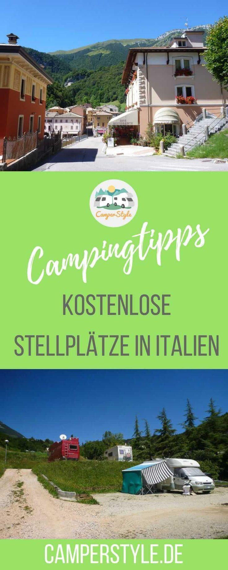 Fünf kostenfreie Stellplätze in Italien #essentialsforcamping