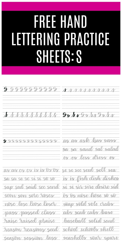 Brush Script S Free Practice Sheets