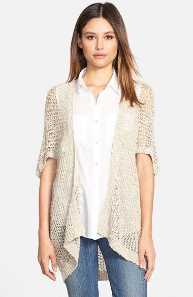 Eileen Fisher Kimono Sleeve Cardigan (Regular & Petite) | Kimonos ...