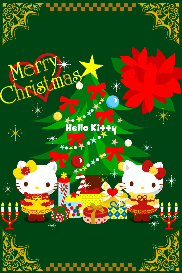 Hello Kitty Weihnachtsbilder.Hello Kitty Christmas Download Free Wallpapers For Iphone 4