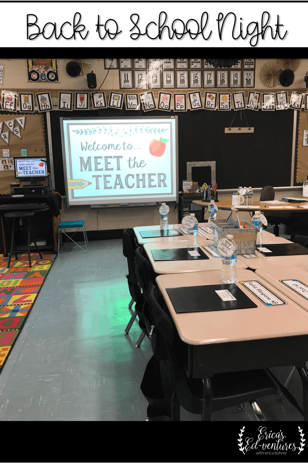 Back to School Night,  Meet the Teacher Night, Farmhouse Classroom #meettheteacherideas