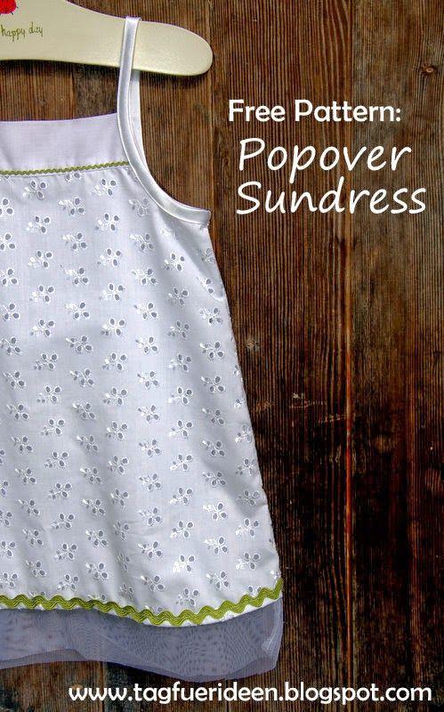 Tag für Ideen: Free Pattern: Popover Sundress   Schnittmuster Kids ...