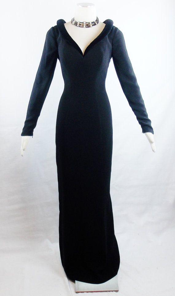 Designer Vintage THIERRY MUGLER EXAGGERATED Collar Runway Gown Sz 40 ...