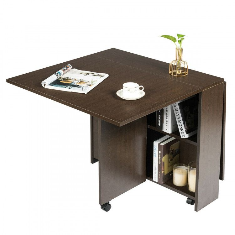 3 In 1 Folding Dining Table With Casters Kitchen Dining Room