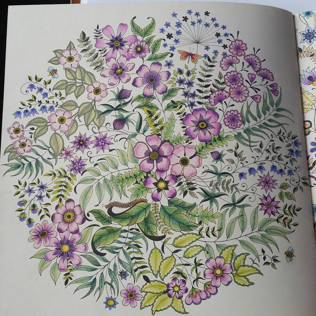 Secretgarden Coloring Johannabasford Flowers Coloringbook Coloringforadults
