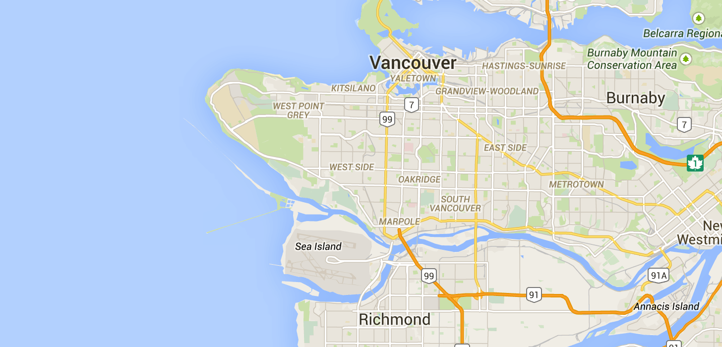 be77c93b6e7 TaxiFareFinder -  35.79 taxi fare from Vancouver Airport (YVR) to Granville  Island using Vancouver