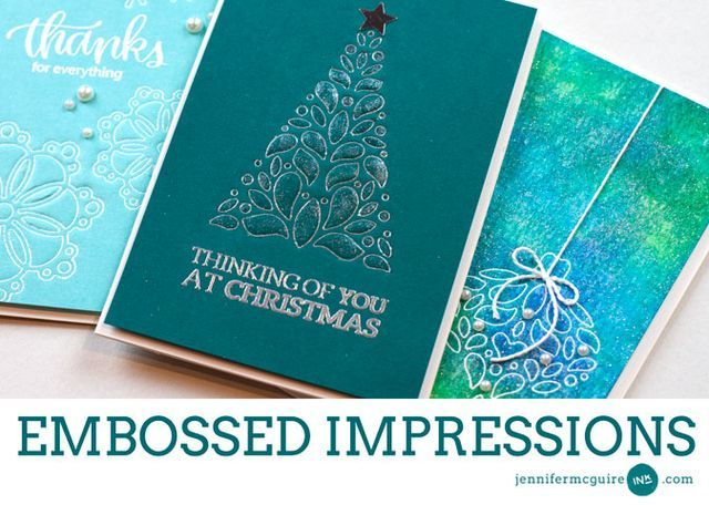 Embossed Impressions + Blog Hop + Giveaway!