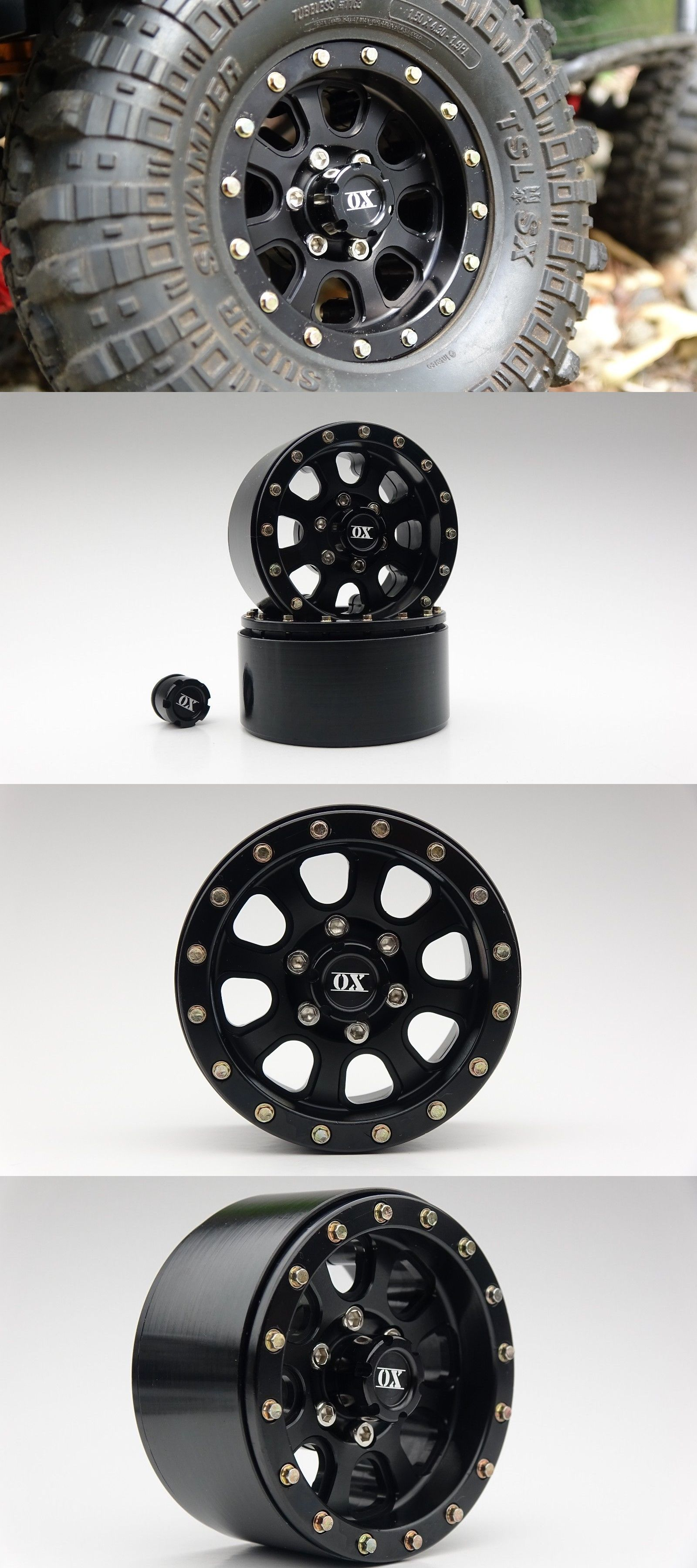 Chassis Drivetrain And Wheels 182196 4 Ox Rc 1 9 Aluminum Beadlock Wheels Fits 1 10 Rc Truck Scx10 Ii Everest Buy It N Beadlock Wheels Rc Trucks Drivetrain