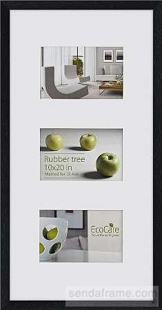 Rubberwood Ecocare Contemporary Black Stain Matted Displays 3 4x6 Prints By Nielsen Picture Frames Photo Albums Framed Photo Collage Frame Frame Display