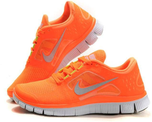 Nike Free Run 3 Orange Black Womens Running Shoe great things cheap sale