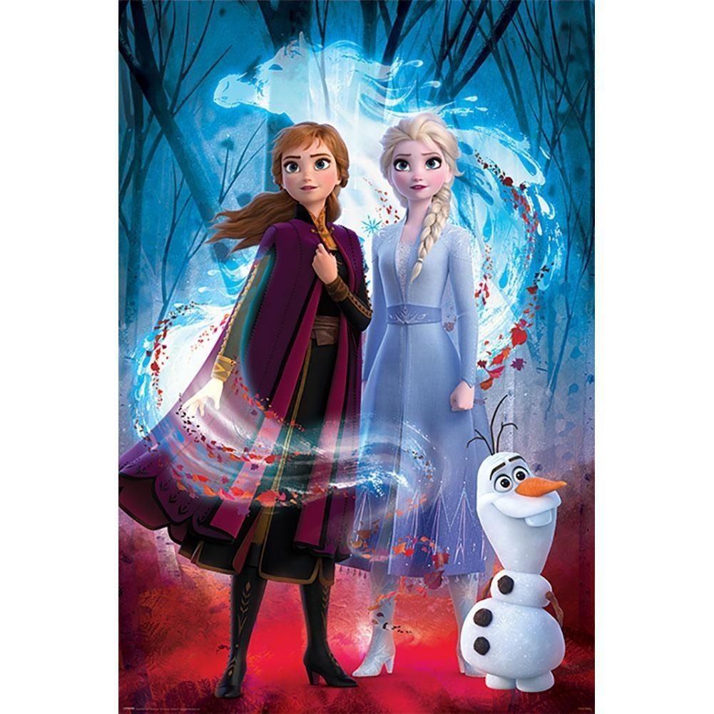 Frozen 2 Guided Spirit Poster - Multicolored, One Size