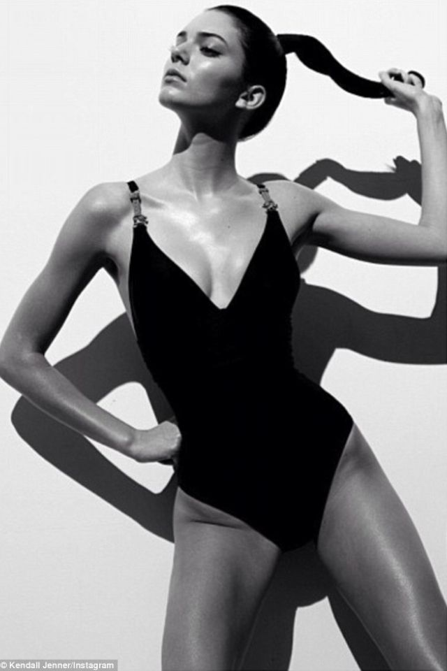 b60af7b667 Kendall Jenner black and white swimsuit shoot...jealous....love her ...