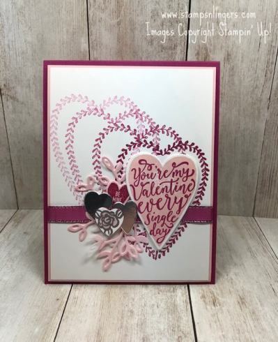card ideas stampin up sure do love you everyday valentine stamps n