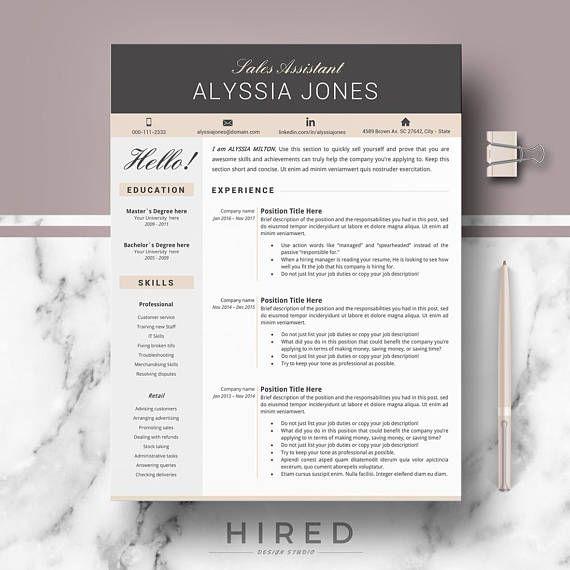 Resume; CV, Resume template; Modern resume; Creative & Professional ...