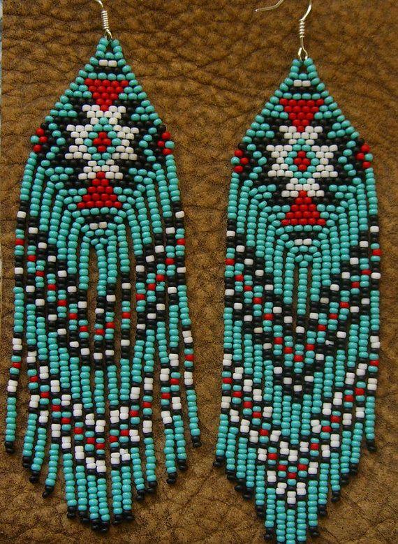 how to make beaded fringe earrings