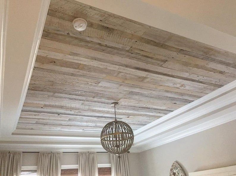 White Washed Barn Wood Planks Etsy In 2021 Barn Wood Ceiling Wood Plank Ceiling Reclaimed Wood Ceiling