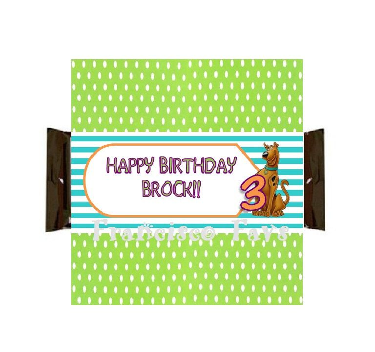 SCOOBY DOO Birthday Party Candy Bar Wrappers  DIY by FranciscoFavs, $3.00