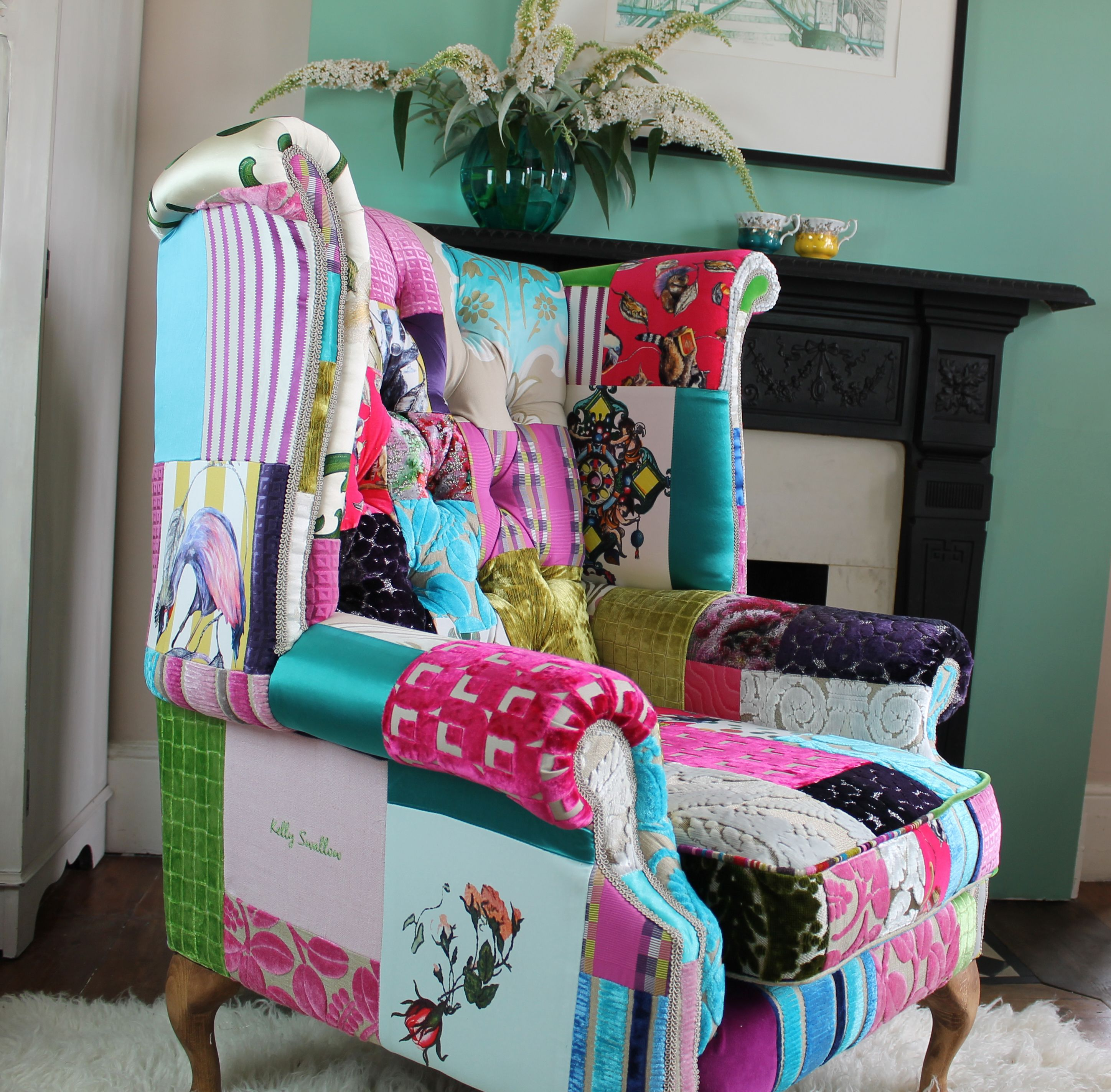 Latest chair Patchwork chair, Chairs for sale, Bespoke chair