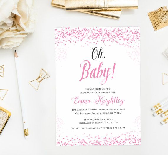 Pink Oh Baby Shower Invitation 712f80e71c