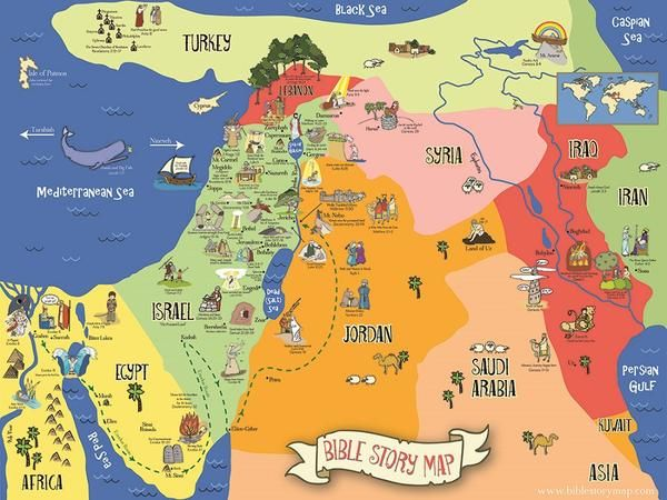 Includes over 40 bible story locations on a map of the holy land includes over 40 bible story locations on a map of the holy land easy for gumiabroncs Choice Image