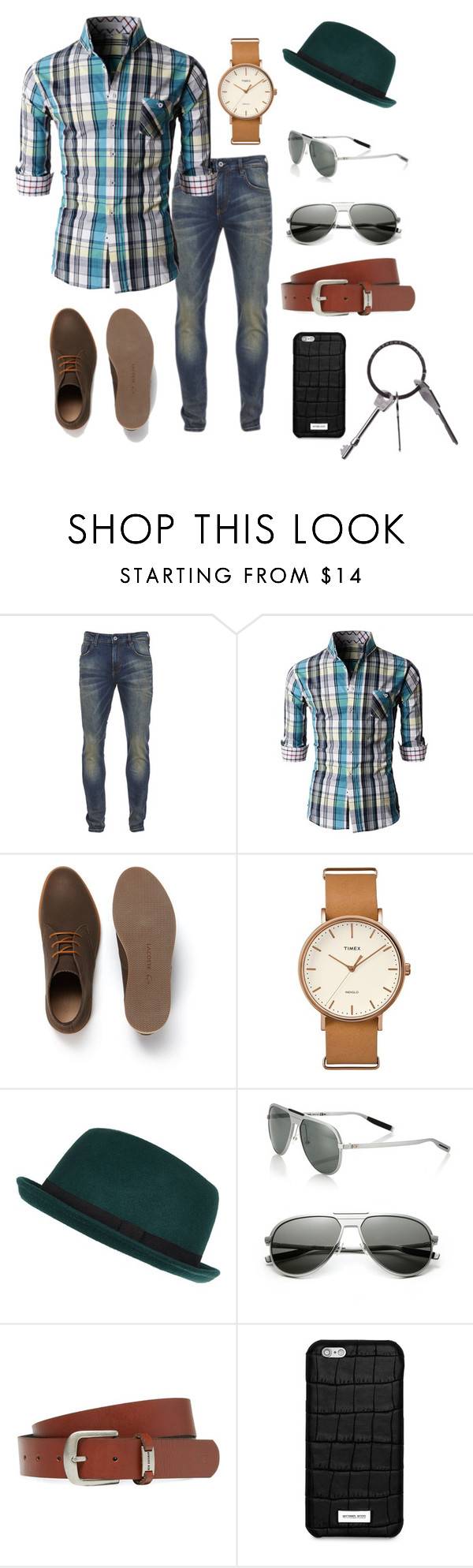 """""""Bring it on"""" by hsheril ❤ liked on Polyvore featuring Scotch & Soda, Lacoste, Timex, River Island, Dior Homme, Ben Sherman, Michael Kors, Givenchy, men's fashion and menswear"""