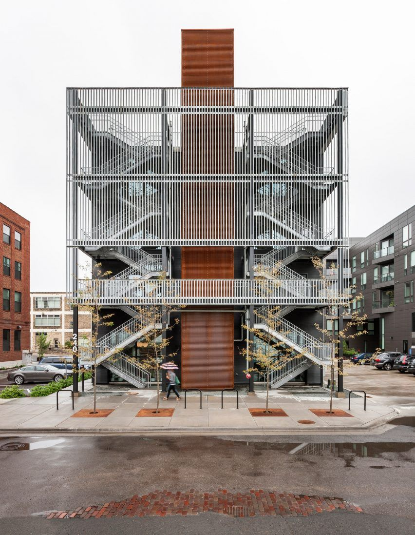 Fire escape doubles as balcony in Minneapolis office building by ...