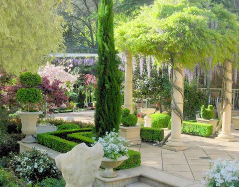 Home with Tuscan style garden | Landscape Architecture | Pinterest ...