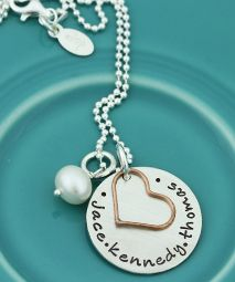simple love with a copper heart