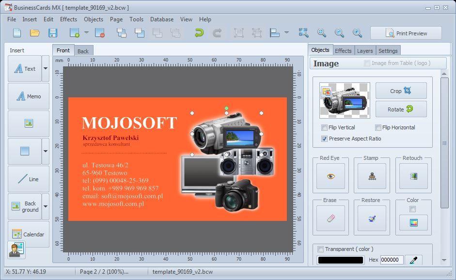 BusinessCards MX - business card maker | Software | Pinterest ...